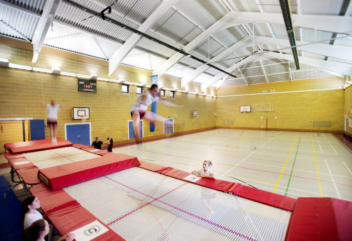 Girls on trampoline, Independent School Portsmouth
