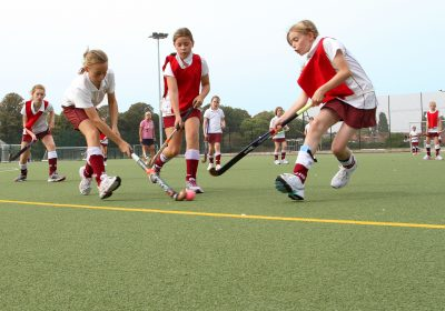 synthetic turf for hockey at Portsmouth High School