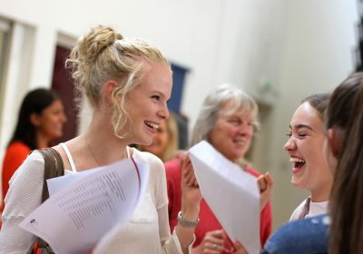 Independent school, Portsmouth High School, Sixth form girls celebrate exam results