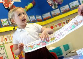 Story sequencing at Portsmouth High Nursery School