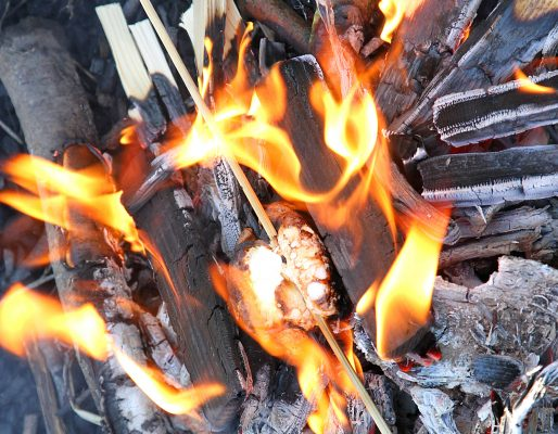 Close up of marshmallows on a fire, enjoying outside fun at Private School Portsmouth