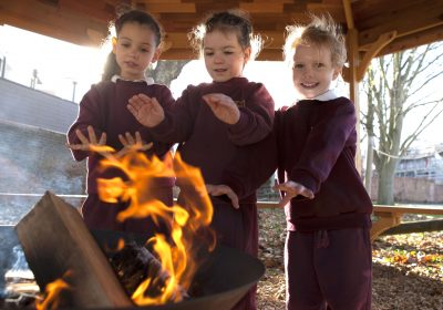 Forest School lessons for Reception Class at Portsmouth High Prep School