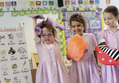 French lesson in Reception Class at Portsmouth High Prep School