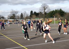 Netball match at the GDST Sports Rally