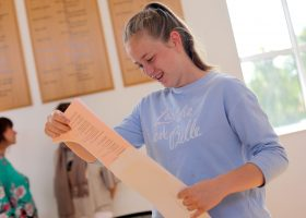 A Level results at Potrtsmouth High School