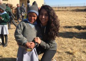 Girls teach in rural South Africa