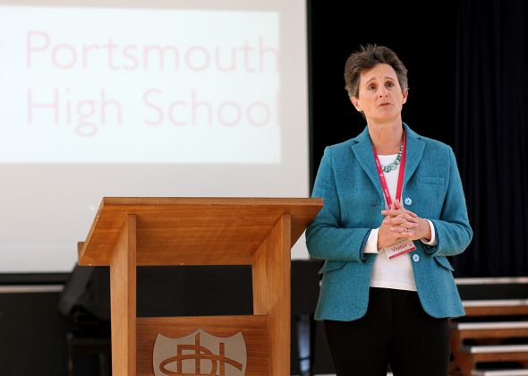 Flick Drummond MP at Portsmouth High School