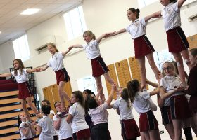 Cheerleading at Portsmouth High School