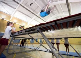 trampolining at Portsmouth High School