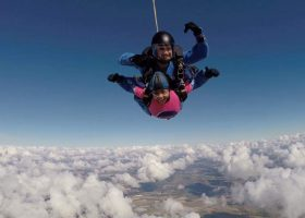 Sixth Formers skydive for Breast Cancer Haven