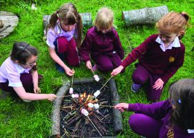 Forest school at Portsmouth High Junior School