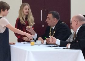 Portsmouth High School Fun on Saturday with Lord Mayor