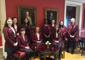 Portsmsmouth High girls perform at Coutts Bank