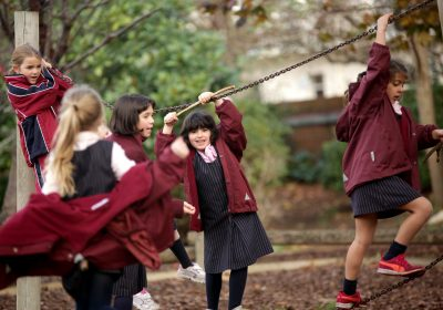 Girls playing outside, Private School Portsmouth