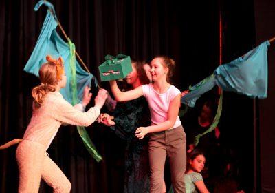 Senior girls performing on stage, Drama School, Independent School Portsmouth