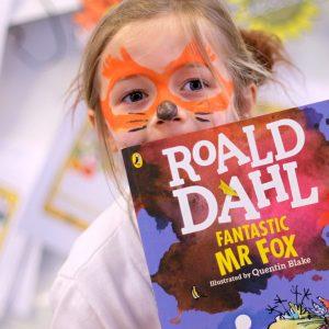 Portsmouth High Nursery girl dressed as Fantastic Mr Fox