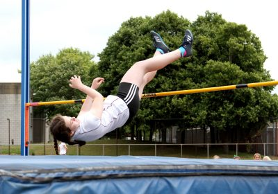 Girl jumping over the high-jump, Independent School Portsmouth
