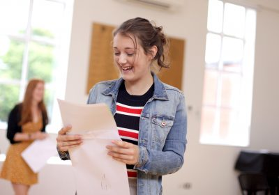 Private School Portsmouth, Girl celebrating outstanding GCSE results