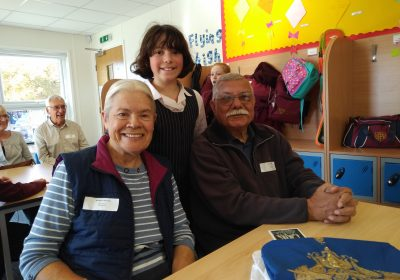 Grandparents' afternoon at Portsmouth High School