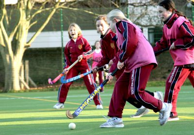 Independent School Portsmouth, Girls playing hockey on astroturf