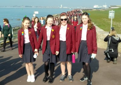 Portsmouth High walk for One Campaign and Children on the Edge