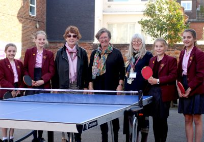 Table tennis at Portsmouth High School