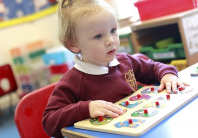 Counting with jigsaws at Portsmouth High Pre-School