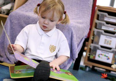 Nursery Rhyme book at Portsmouth High Nursery