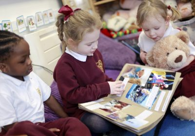 Sharing books in Southsea Nursery