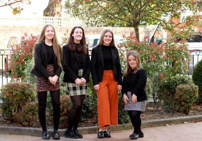 Portsmouth High School Head Girl team 2020-21