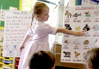 French in Reception Class at Portsmouth High School