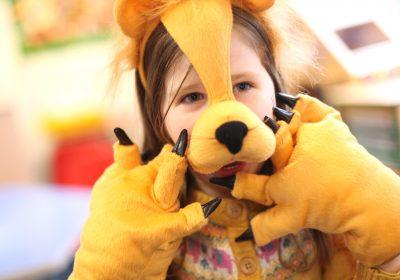 Nursery lion at Portsmouth High School
