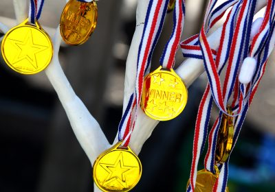 Medals at Pre-School sports day