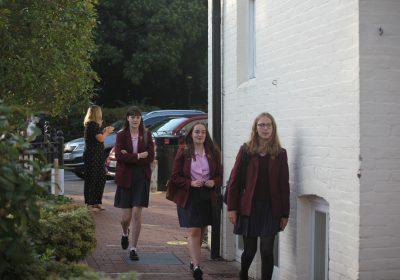 Girls return to Portsmouth High School post lockdown