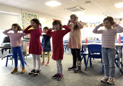 Acting out The Winter's Tale in school