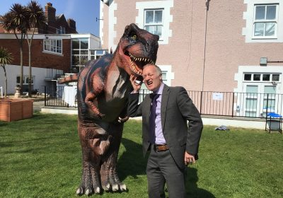 Dinosaur visit to Prep School