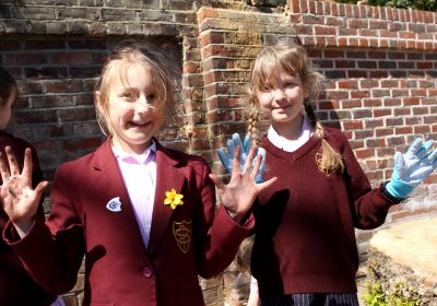 Young gardeners at Portsmouth High Prep School