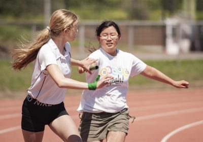 Relay at Portsmouth High School Sports Day