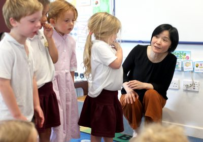 Chinese dance in pre-school