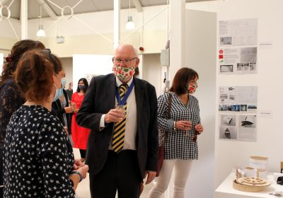 The Mayor of Gosport at Portsmouth High School's Art Exhibition