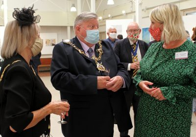 The Lord Mayor of Portsmouth at Portsmouth High School's Art Exhibition