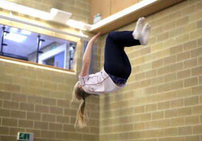 Trampolining at Portsmouth High Prep School