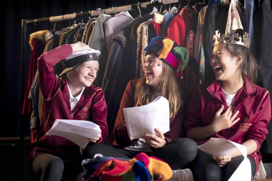 3 Year 7 drama students at Portsmouth High School GDST